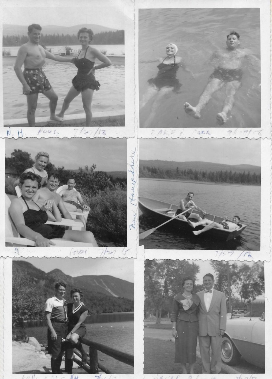 Figure 12 Vacationing War buddy, Irv Bagatelle and wife Lee with Thelma and me,